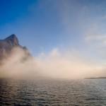 Tåke og sol i Lofoten
